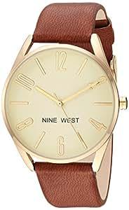Nine West NW/2182 - Reloj de brazalete para mujer, Dorado/Marrón