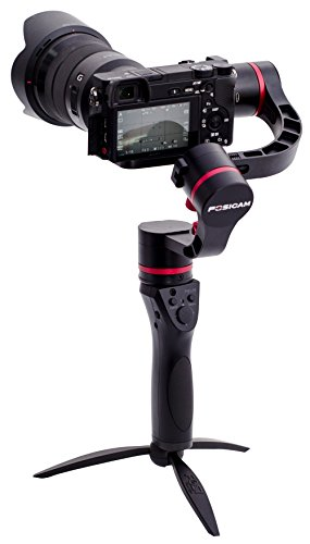 3-axis handheld gimbal stabilizer for mirrorless micro-DSLR cameras FM1-45 45 degrees up to 3.96lbs i.e. Canon M Sony A7R2 A7S A6300 A6500 Panasonic Lumix GH4 GH5