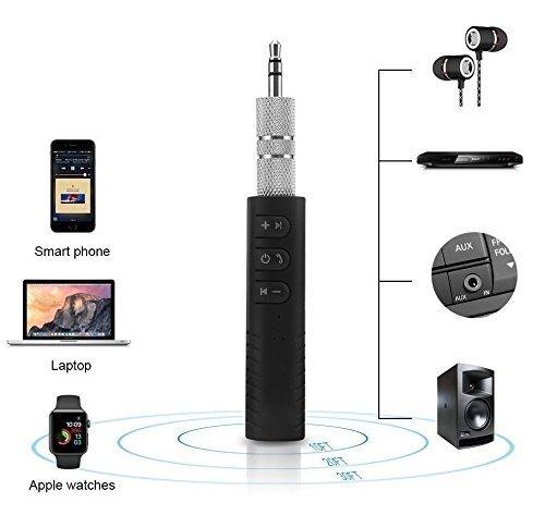 BT450 ABS 3.5mm Car Audio Receiver AUX Output Adapter Noise Reduction