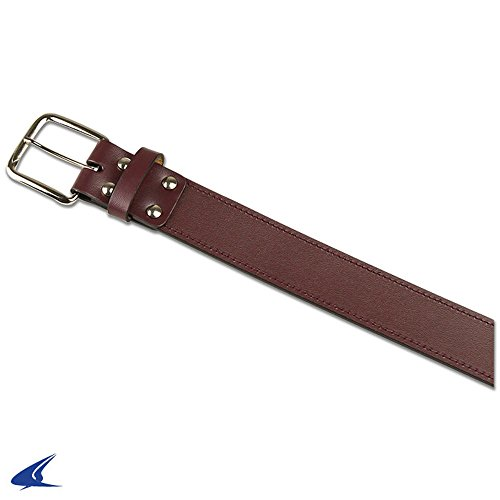 Champro Leather Baseball Belt MAROON L A063 A063ML (Maroon Athletic Belt)
