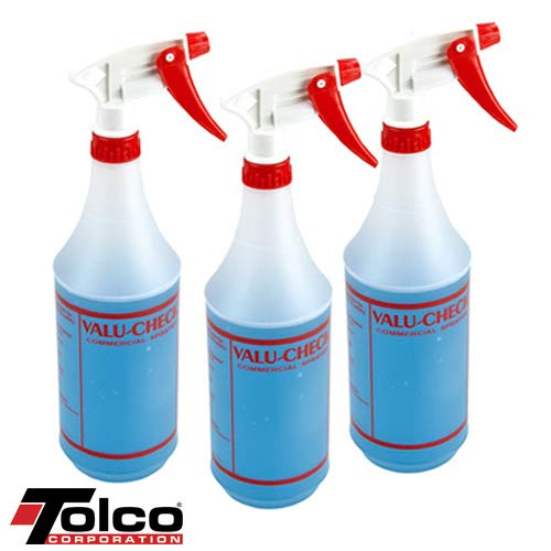 32 oz. ValuCheck Commercial Bottles & Sprayers (12 Bottles)