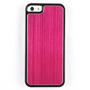 RC - Wood Grain Metal Hard Case for iPhone 5/5S((Assorted Colors) , Rose