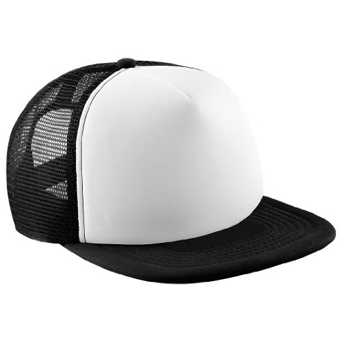 c58cb9b350a71c Beechfield - Cap with Flat Peak - for Men Multi-Coloured Black/White  Size:One Size: Amazon.co.uk: Clothing