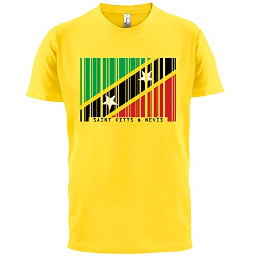 Saint Kitts and Nevis / St. Kitts und Nevis Barcode Flagge - Herren T-Shirt - Gelb - XXL