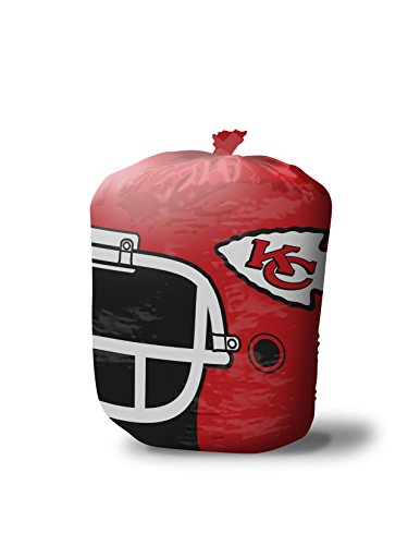 NFL Kansas City Chiefs Stuff-A-Helmet Lawn & Leaf Bag, Large/57 gallon, Red