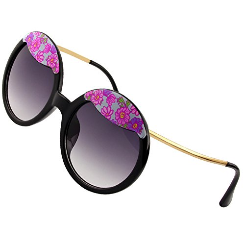 Sumery Ladies Luxury Hairpin Frame Round Lens Sunglasses Women Outdoor Travel Sunglasses (Black, - Wikipedia Triathlon