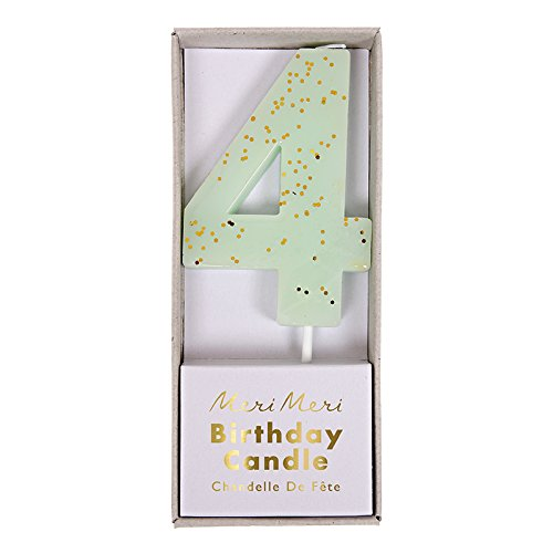 #4 Glittered Number Candle (Pink) - 2