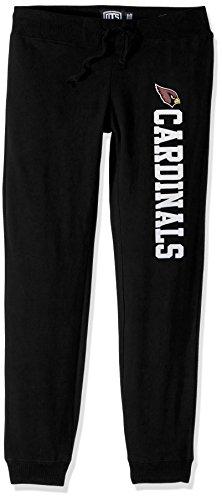 NFL Arizona Cardinals Women's Ots Fleece Pants, Small, Jet Black (Capri Cardinal)