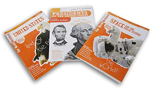 Geography Workbook Set - Workbooks American History Set - Geography, Presidents, Space - for Grades 1-4