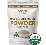 Psyllium Husk Powder; Psyllium Husk Fiber Powder for Baking Keto Bread, Easy Mixing Fiber Supplement for Promoting Regularity, Finely Ground & Non-GMO, 24 oz.