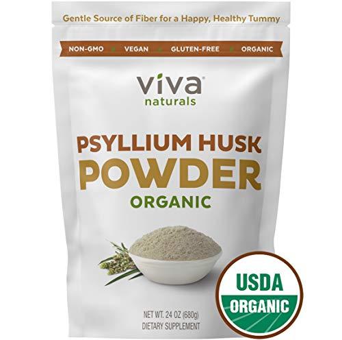 Organic Psyllium Husk Powder; Psyllium Husk Fiber Powder for Baking Keto Bread, Easy Mixing Fiber Supplement for Promoting Regularity, Finely Ground & Non-GMO, 24 oz. (Baking Powder Cleanser)