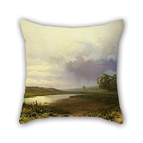 [Oil Painting Fedor Vasilyev - Мокрый луг Throw Pillow Covers ,best For Bar,boy Friend,family,festival,father,kitchen 20 X 20 Inches / 50 By 50 Cm(both] (Six Million Dollar Man Costume)