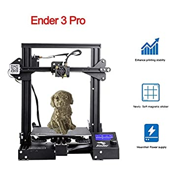Image of 3D Printers Creality Ender 3 Pro 3D Printer with Removable Cmagnet Build Surface Plate and Meanwell Power Supply 8.6' x 8.6' x 9.8' for School and Home Use