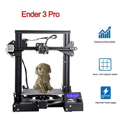 Creality Ender 3 Pro 3D Printer with Removable Cmagnet Build Surface Plate and Meanwell Power Supply 8.6