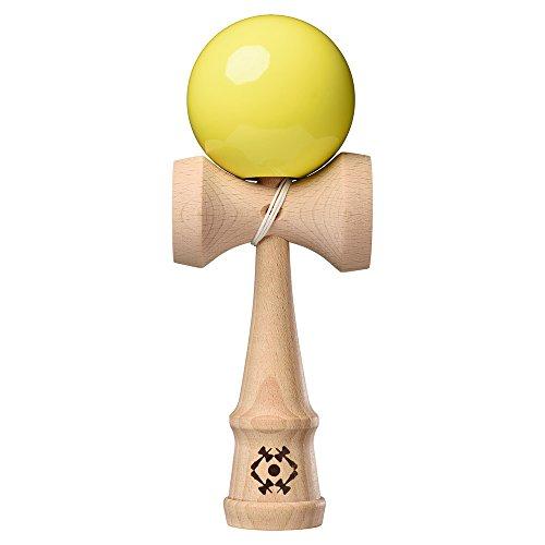 Wooden Tribute Box (Kendama USA Tribute - Wooden Skill Toy - Neon Yellow)
