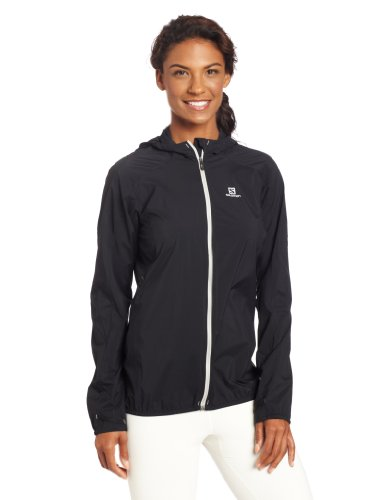 Salomon Women's Fast Wing Hoodie, Black, Small
