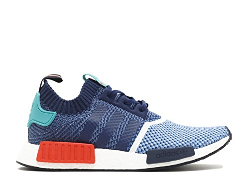 Adidas Mens Nmd_r1 Pk Packers Clear Sky / Dark Blue Nylon Maat 11