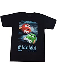 M&M M&M's Candy Silly Character Face T-Shirt (Large, Midnight Snack - Black)