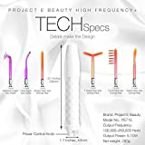Project E Beauty Professional High Frequency Facial Machine |D'arsonval Spot Removal Wand Skin Tightening Wrinkle Fine Lines Removal Face Lifting Puffy Eyes Therapy Treatment Device - Neon & Argon Gas