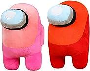 2PCS 7.8inch/20cm Among us Plush Stuff Animal Plushies Toys,Cute Soft Plush Among Us Plush Stuffed Animals Amo