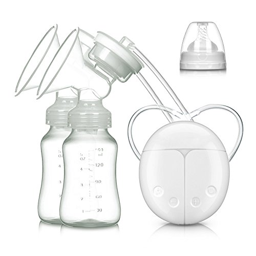 Double Electric Breast Pump, Electric Breastmilk Pump Double Pumps Milk Suction and Breast Massager for Breastfeeding