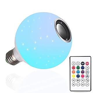 DGRENA E26 LED Wireless Light Bulb Speaker, RGB Bluetooth Speaker Light Bulb, Bluetooth Light Bulb with Speaker