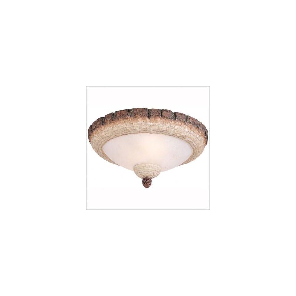 Monte Carlo Fan Company Great Lodge Semi Flush Mount or Ceiling Fan