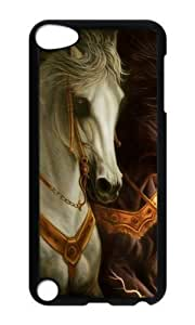 Ipod 5 Case,MOKSHOP Cool 3D horse 3 Hard Case Protective Shell Cell Phone Cover For Ipod 5 - PC Black