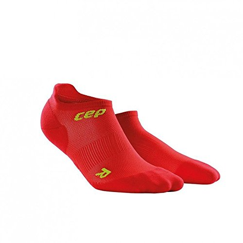 CEP Women's Dynamic+ Ultralight No-Show Socks, Red/Green, 2
