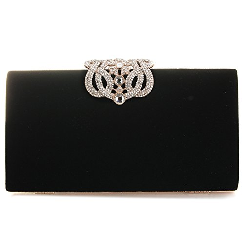 Bag Luxury designer Black Bag Evening Clutches and Bag Party Fashion Womens 60z0xT