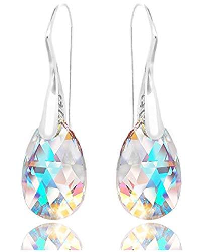 Sterling Silver Dangle Earrings Swarovski Crystal Drop Earrings for Women Anniversary Birthday Mother's Gift SSE5