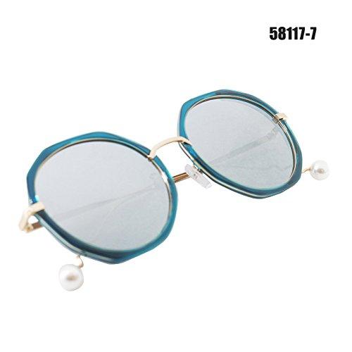 A Xue De frame Blue Gafas Frame De Las Espejo Manejar Sol A zhenghao De De Gafas Cristal Blue ggpTnqUw1