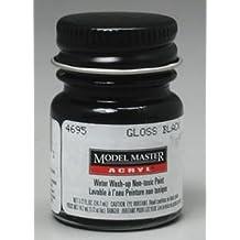 Gloss Black Testors Acrylic Plastic Model Paint