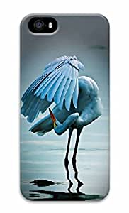 Unique Design Cases for iPhone 5 3D Red Crowned Crane Cover