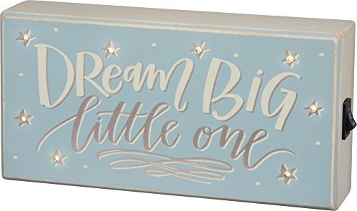 #33459 - LED Sign - Dream Big BLU 8'' x 4''