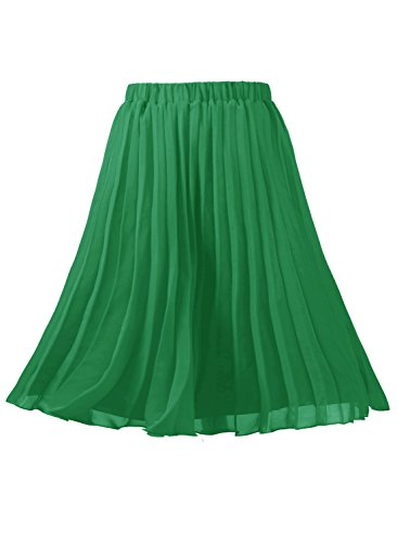 Emondora Women's A-line Short Skirts Retro Pleated for sale  Delivered anywhere in USA