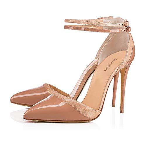Color Zapatos Palabra Una 8Cm O Más De Tacón Hebilla De Mujeres Tacón Las Flesh LFF Súper Zapatos Banquete Coincidente Alto Individuales Grande Delgado Talla FF Moda 8wXq7q0px