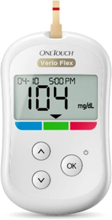 MEDIDOR DE GLUCOSA-GLUCOMETRO ONETOUCH VERIOFLEX: Amazon.es: Salud y cuidado personal