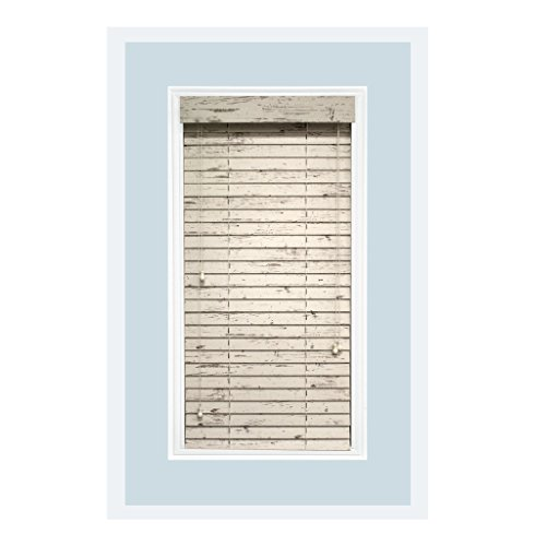 Rustic Home Décor Collection: Custom-Made, 2 inch Real Wood Horizontal Window Blinds, Cottage White, Inside Mount, Farmhouse Décor For Sale