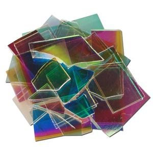 Dicroic Glass (1/2 Lb Dichromagic Scrap On Clear - 90 Coe)