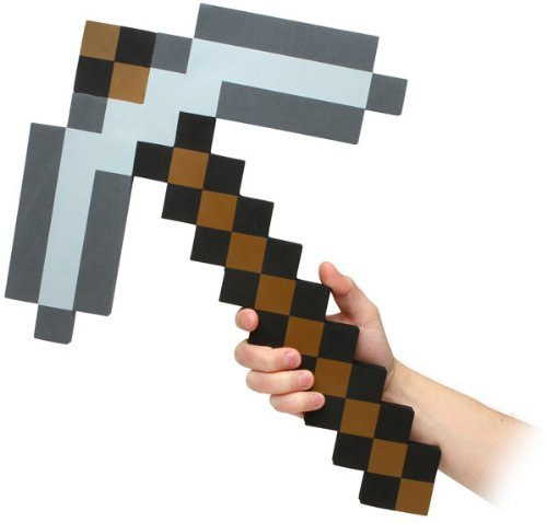 - ThinkGeek Minecraft Pick Axe Foam Weapon Action Figure Accessory