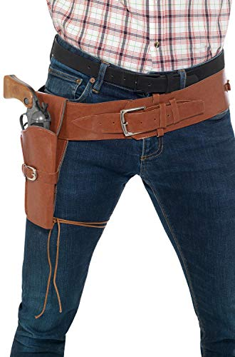 Smiffy's Cowboy Costume Holster with Belt - -