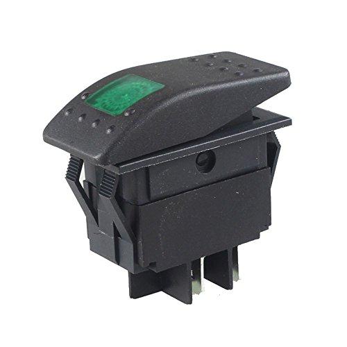 20 Amp Single Pole Made in America Universal Rocker Switch with Green Light KU80012 Daystar