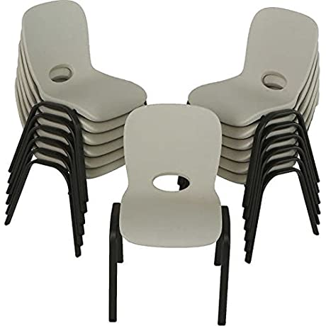 Lifetime Kids Stacking Chair In Almond 13 Pack