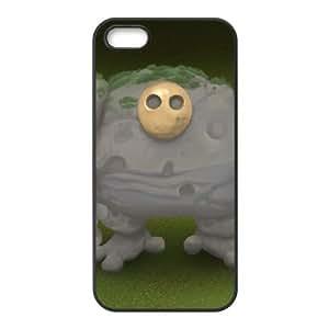 Pixeljunk Monsters 9 funda iPhone 5 5s caja funda del teléfono celular del teléfono celular negro cubierta de la caja funda EEECBCAAL12635