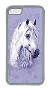 ICORER Rubber iPhone 5C Cases Moon Shadow Horse Protective Case Cover for Apple iPhone 5C TPU Transparent