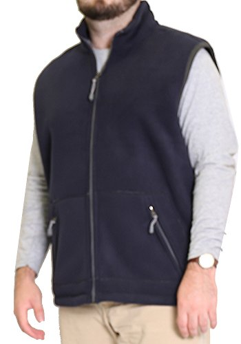 Heather Woodland (Woodland Supply Co. Men's Fleece Outerwear Vest (X-Large, Navy/Heather))