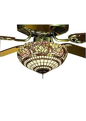 """Meyda Tiffany 12706 Handel Grapevine Fan Light Fixture, 15"""" W"""