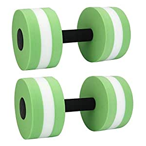 SODIAL Foam Dumbbells Water Aerobic Exercise Hand Bars Pool Resistance Exercises Equipment,Set of 2