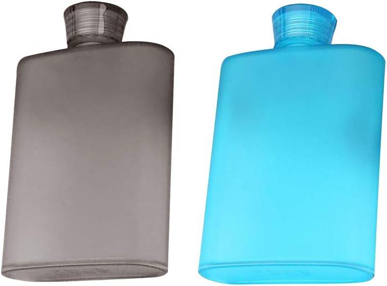 NON 2 Piezas Petaca de Plástico de Bolsillo Botella de ...